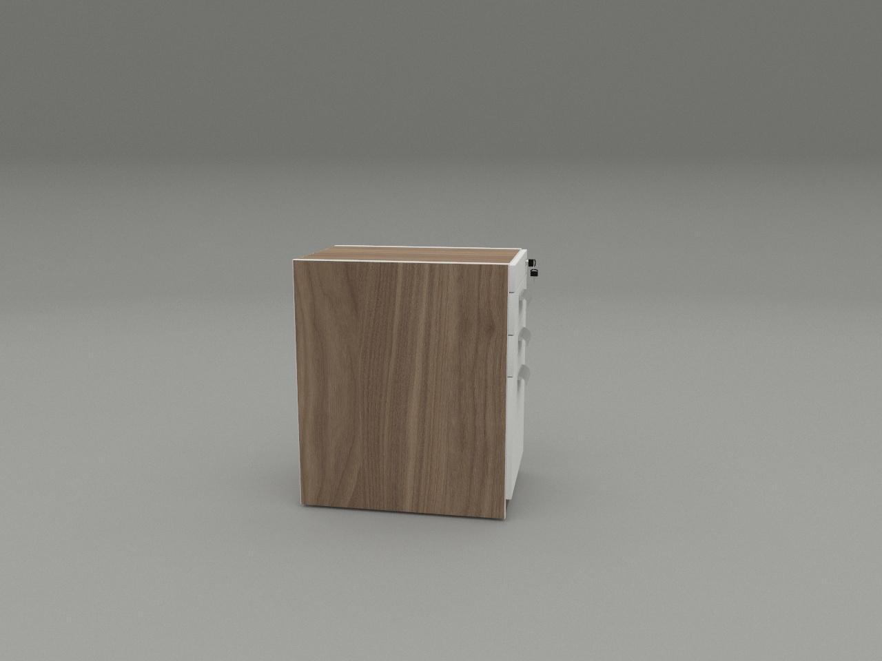 cajonera con 1 archivador y 2 utileros carta light eco h71 40 x 60 cm con rodajas