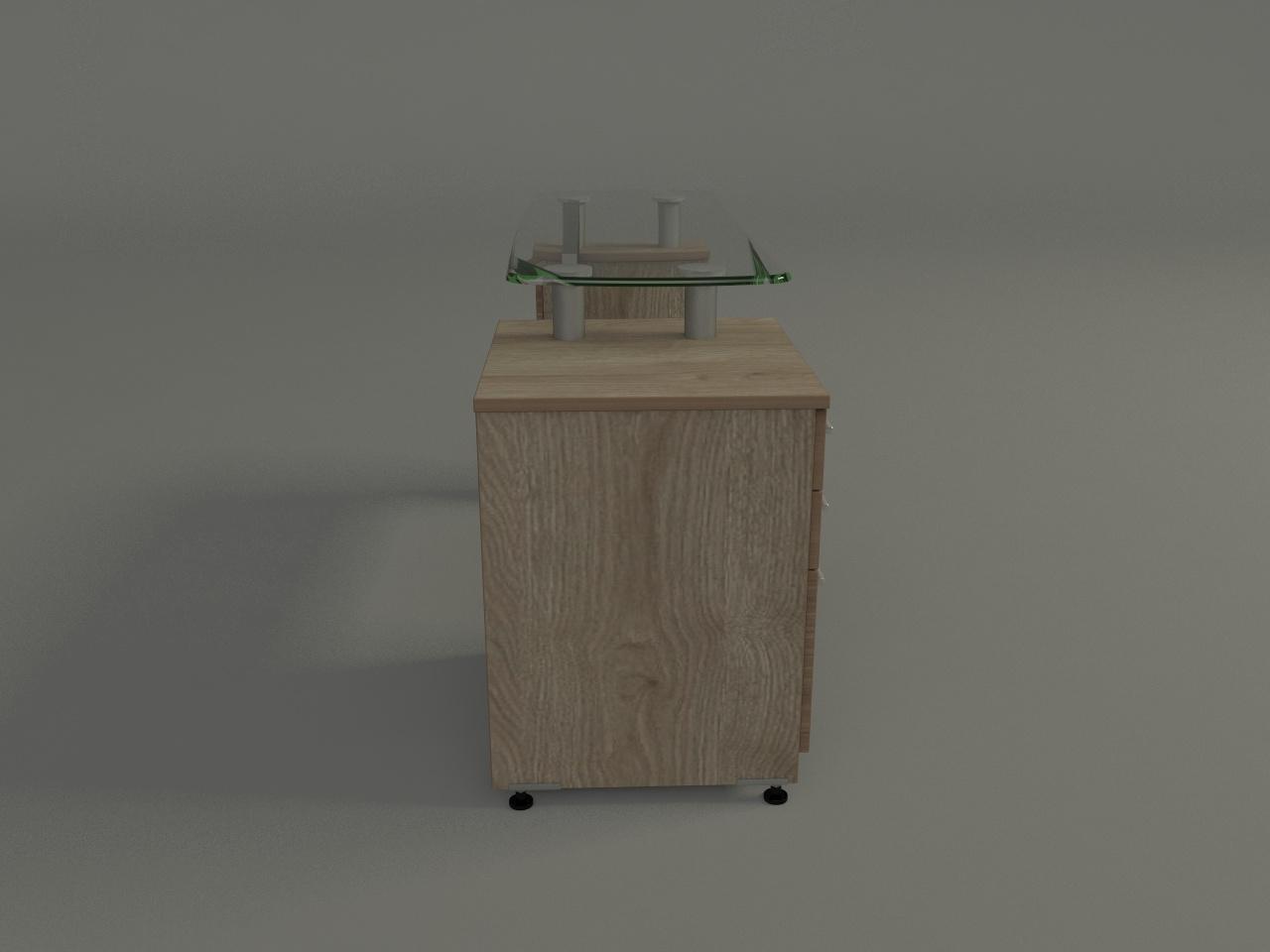 credenza ejecutiva boston 150 x 50 cm cub cristal 12mm con pedestal