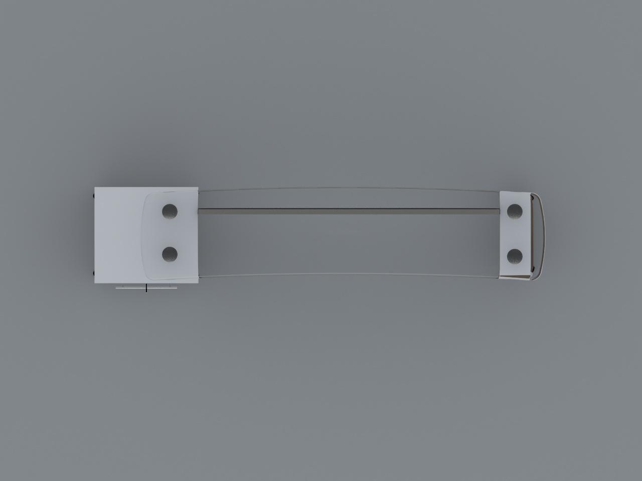 credenza ejecutiva boston 220 x 50 cm cub cristal 12mm con pedestal