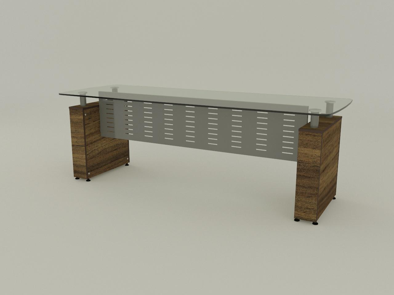 escritorio boston sop 150mm 220 x 80 cm cub cristal 12mm