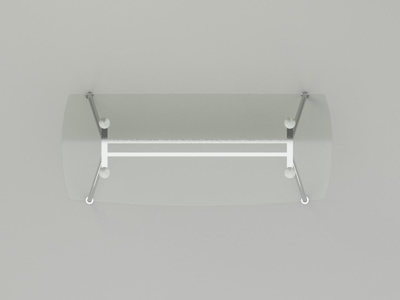 escritorio ejecutivo metal glass 180 x 80 cm
