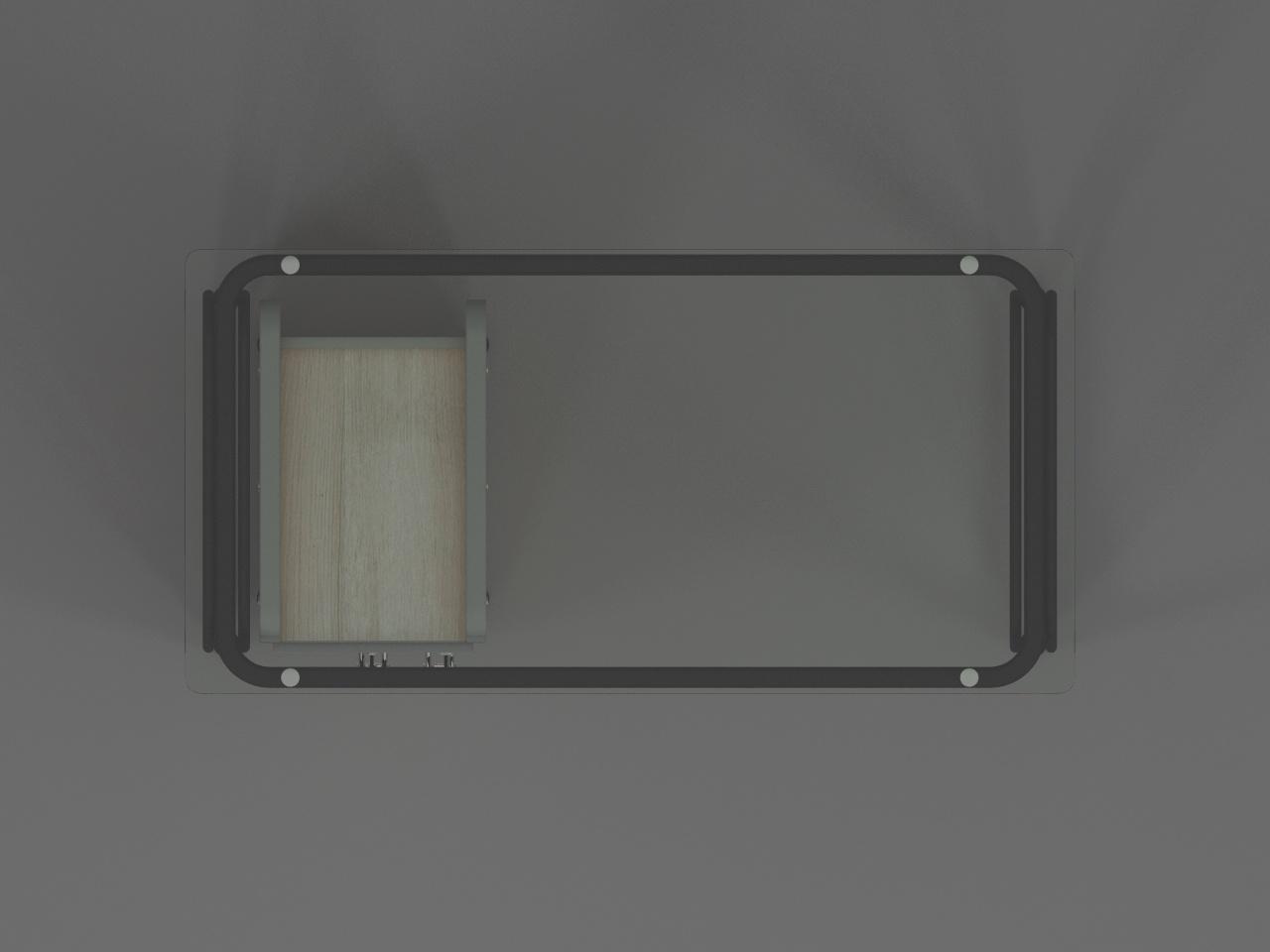 escritorio secretarial metal glass o1 120 x 60 cm con base