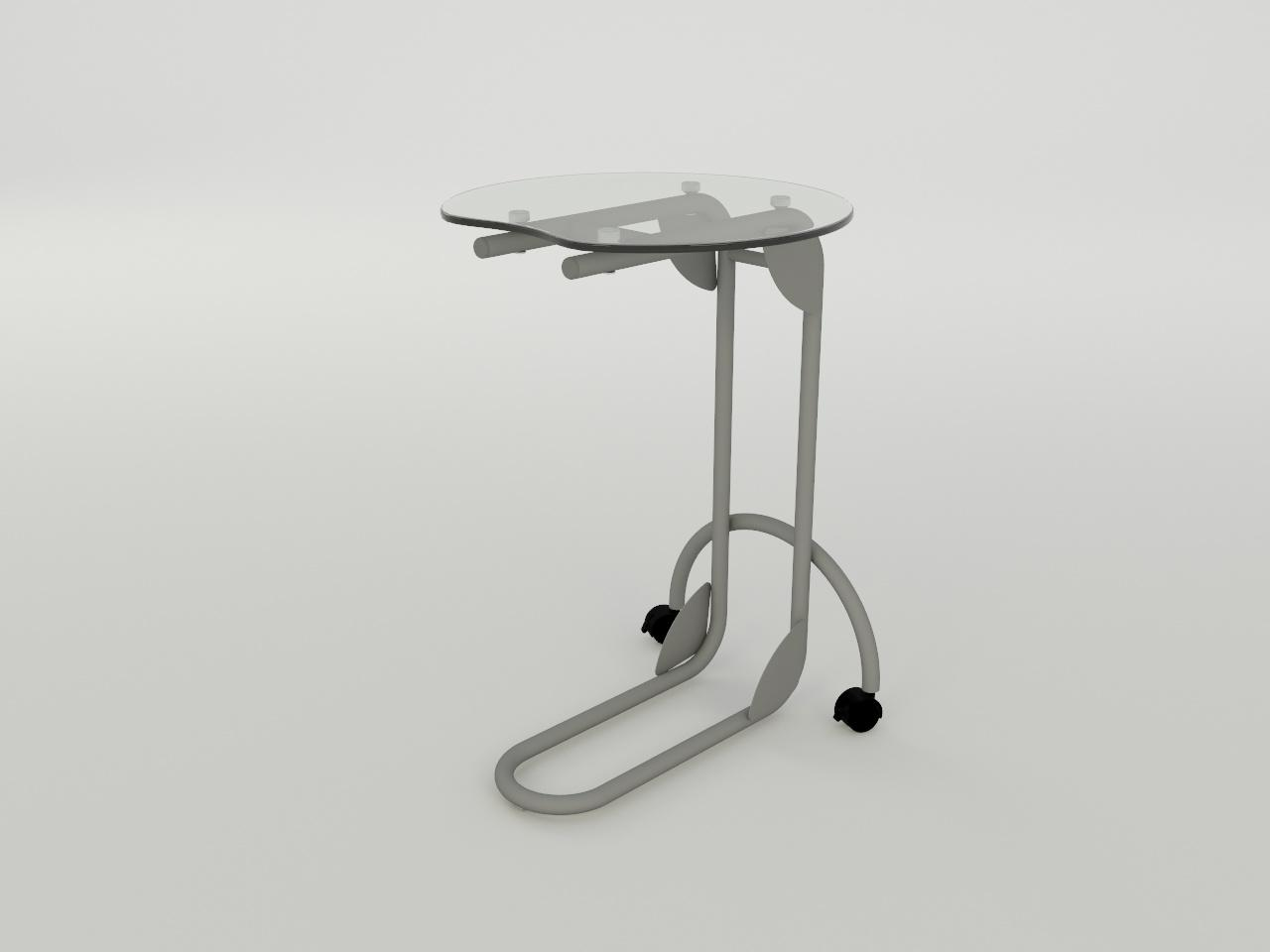 mesa con ruedas nomada plus r1 h70 50 x 50 cm cub cristal 9mm