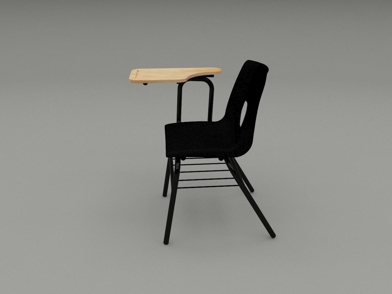 silla de paleta concha plastica color negro paleta de triplay
