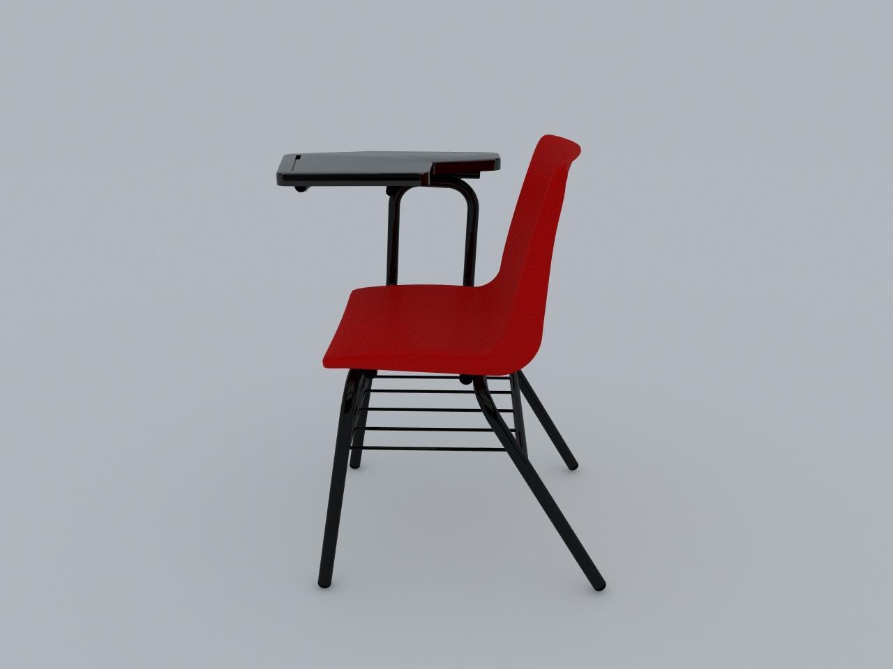silla de paleta concha plastica color rojo paleta plastica negra