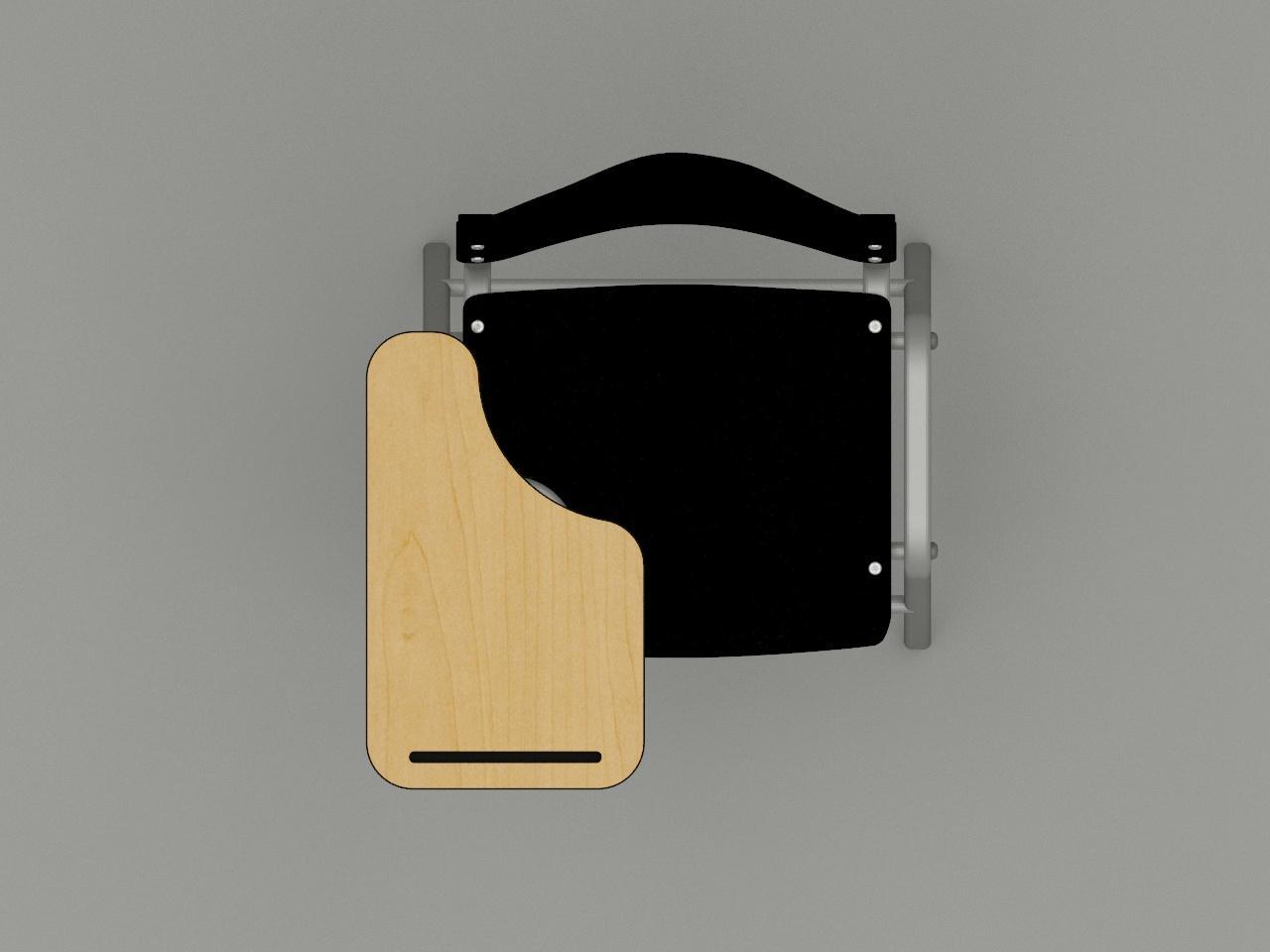 silla de paleta fast color negro paleta triformi