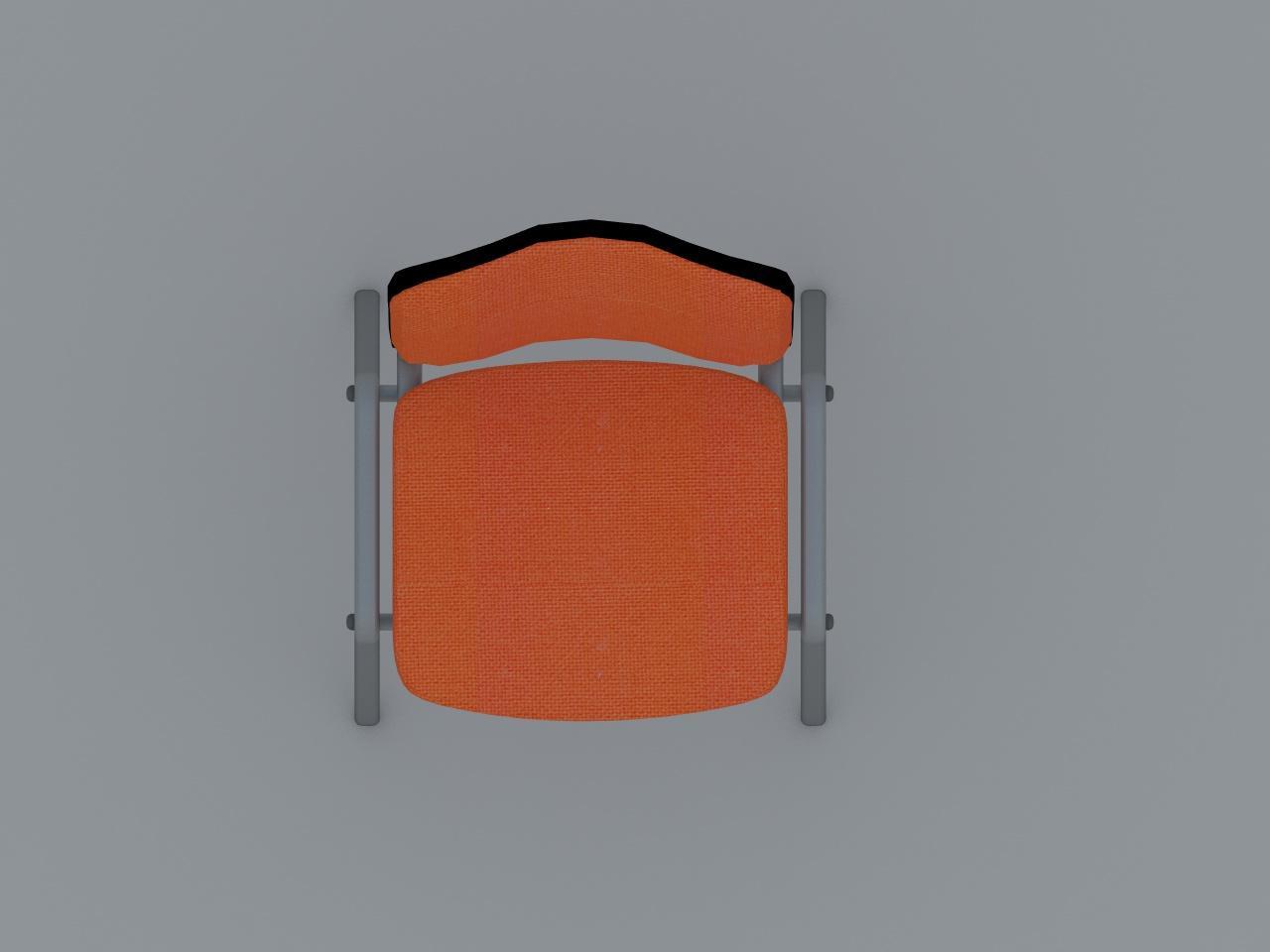 silla de visita tubo plano hormas vinilicas
