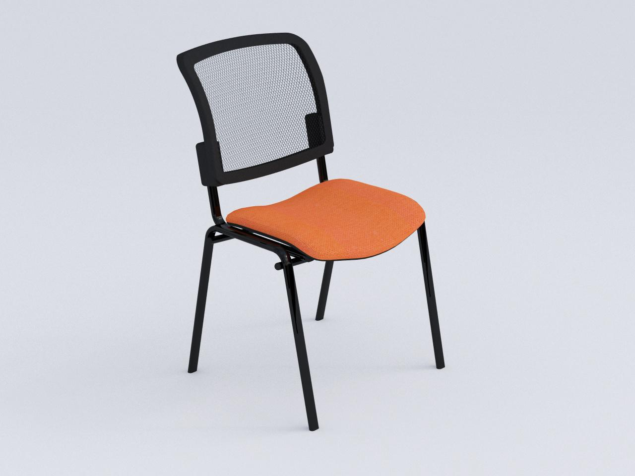 silla de visita tubo plano iso mesh