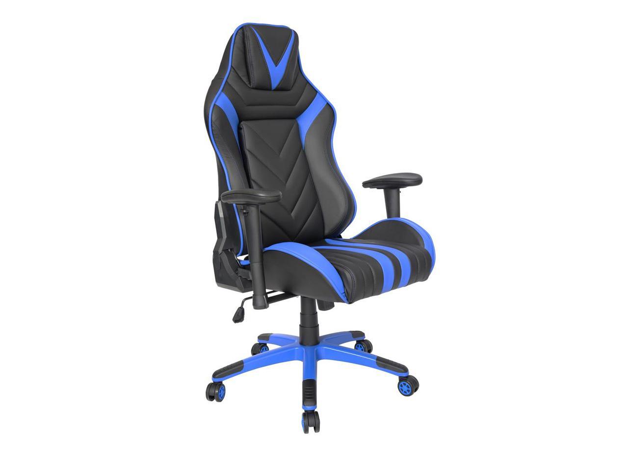 sillon kugamer 001 especial color azul con negro